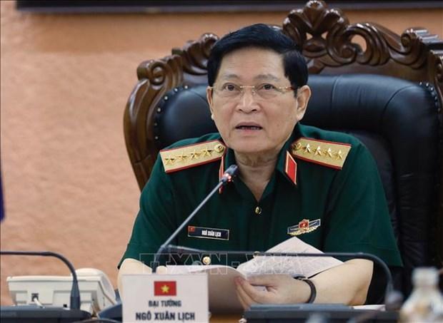Vietnam-Russie : conversation telephonique entre les deux ministres de la Defense hinh anh 1