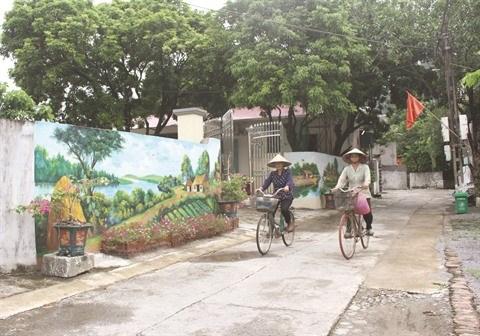 Ninh Binh : Des rues ornees de fresques dans une campagne paisible hinh anh 1