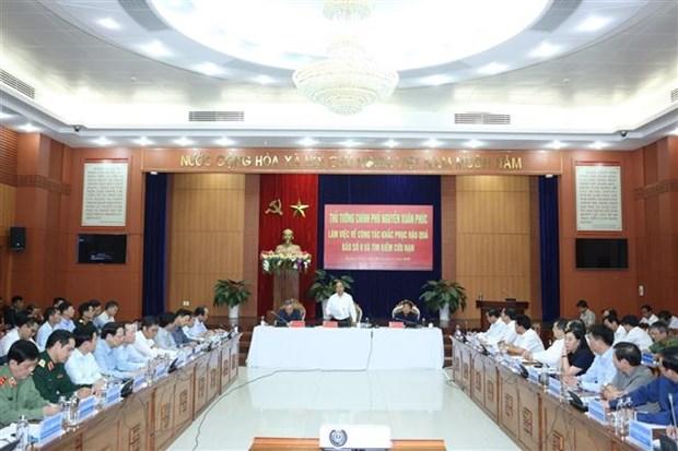 Le PM demande de chercher a traiter rapidement les consequences des intemperies hinh anh 1
