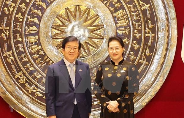 Vietnam-R. de Coree : entretien entre les deux chefs des organes legislatifs hinh anh 1