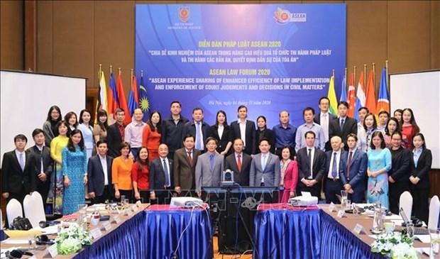 Forum juridique de l'ASEAN 2020: ameliorer l'efficacite de l'application de la loi hinh anh 1