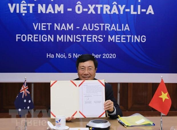 La deuxieme reunion annuelle des ministres des AE Vietnam-Australie hinh anh 1