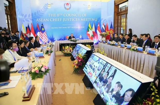Nguyen Hoa Binh est elu president du Conseil des juges en chef de l'ASEAN pour le mandat 2020-2021 hinh anh 1