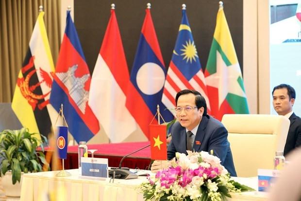 Le Conseil de la communaute socioculturelle de l'ASEAN se reunit en ligne hinh anh 1
