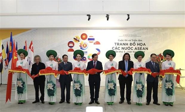 Concours et exposition des arts graphiques de l'ASEAN hinh anh 1