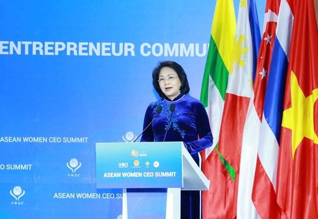 La vice-presidente appelle a la solidarite entre les femmes d'affaires de l'ASEAN hinh anh 1