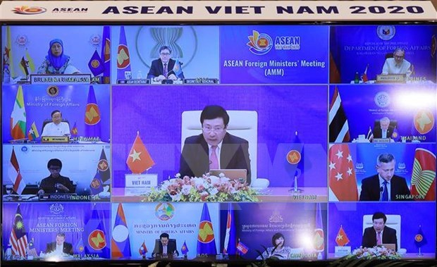 Les ministres des AE de l'ASEAN apprecient les progres dans la connexion de la communaute du bloc hinh anh 1