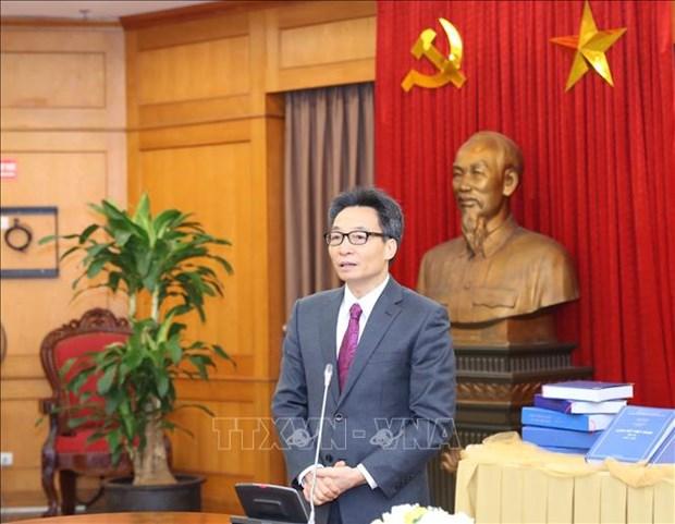 Le MST recoit le brouillon de l'encyclopedie de l'histoire du Vietnam hinh anh 1