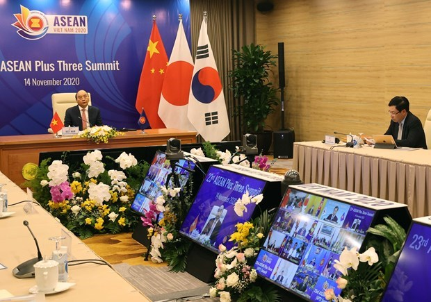 L'ASEAN+3 s'engage a renforcer sa cooperation au milieu du Covid-19 hinh anh 1