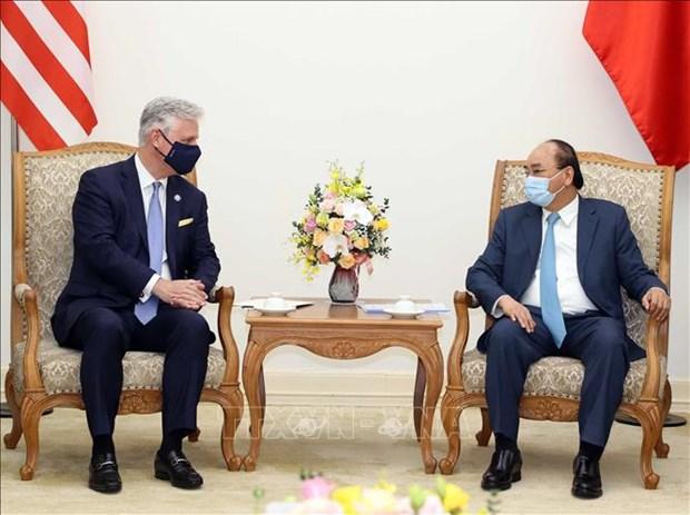 Le Vietnam et les Etats-Unis conviennent de renforcer leur cooperation pour faire face aux defis communs hinh anh 1