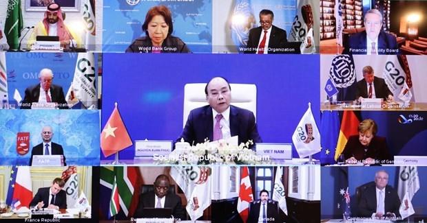 Le PM Nguyen Xuan Phuc appelle aux efforts pour construire un avenir inclusif, durable et resilient hinh anh 1