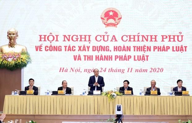 Le PM souligne l'importance du droit et du renforcement des institutions hinh anh 1