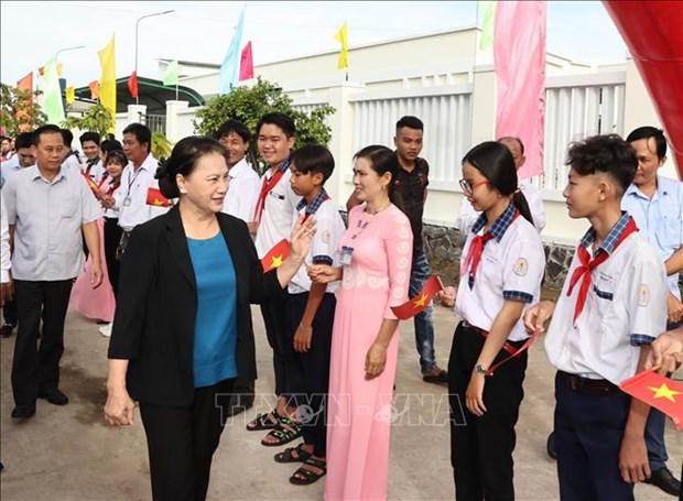 La presidente de l'AN souligne la tache urgente de la prevention de l'erosion cotiere hinh anh 1