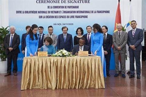 Neuf bibliotheques vietnamiennes auront leurs espaces du livre francophone hinh anh 1
