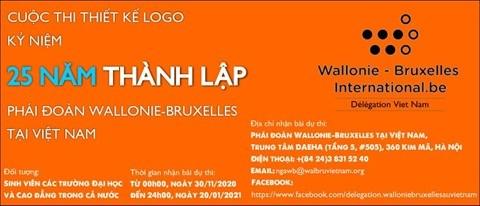 Conception du logo des 25 ans de presence de la delegation Wallonie-Bruxelles au Vietnam hinh anh 1