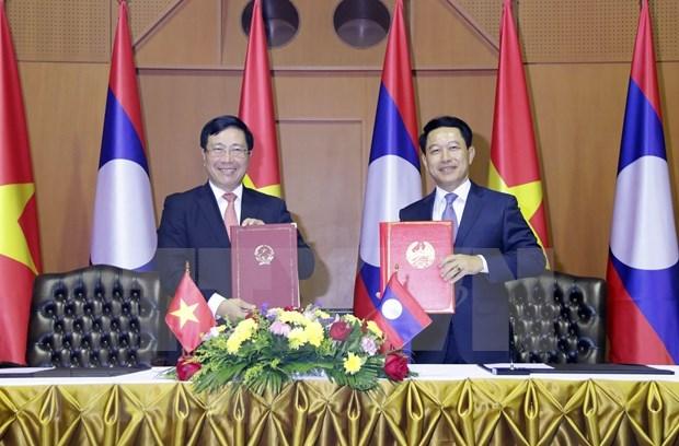 Laos-Vietnam : la 7e consultation politique au niveau ministeriel des Affaires etrangeres hinh anh 1