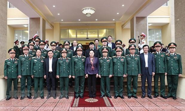 La presidente de l'Assemblee nationale visite la region militaire 4 hinh anh 1