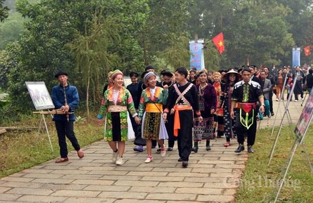 """""""Couleurs des fleurs"""" dans le Village culturel et touristique des ethnies du Vietnam hinh anh 1"""