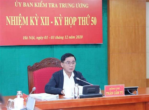 Reunion de la Commission de controle du Comite central du Parti hinh anh 1