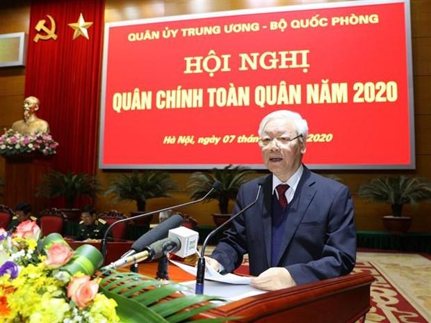 Le leader Nguyen Phu Trong souligne les grandes taches de l'armee hinh anh 1