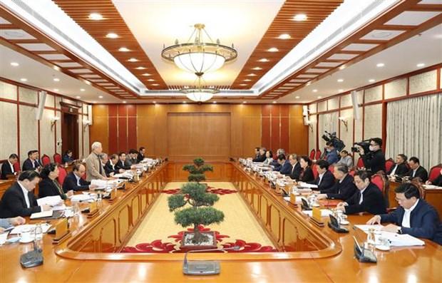 Le leader salue les contributions aux documents du 13e Congres du Parti hinh anh 2