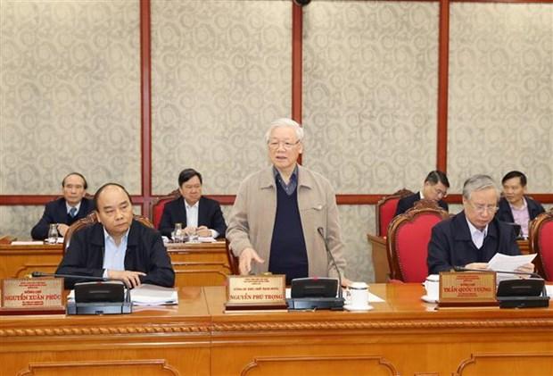 Le leader salue les contributions aux documents du 13e Congres du Parti hinh anh 1