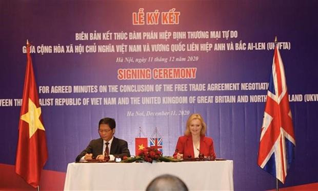 Vietnam-Royaume-Uni : le commerce bilateral sera favorise avec l'UKVFTA hinh anh 1