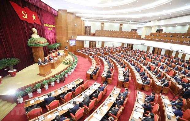 Premiere journee du 14e Plenum du Comite central du Parti hinh anh 1