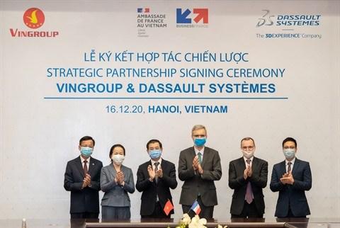 Vingroup coopere avec Dassault Systemes pour promouvoir la digitalisation hinh anh 1