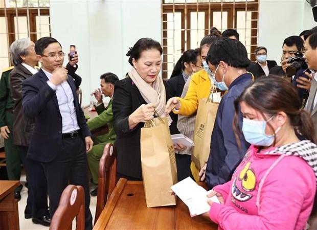 La presidente de l'Assemblee nationale en visite a Quang Nam hinh anh 1