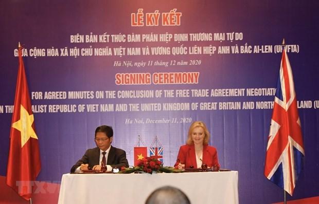 UKVFTA significatif pour le Vietnam et le Royaume-Uni hinh anh 1