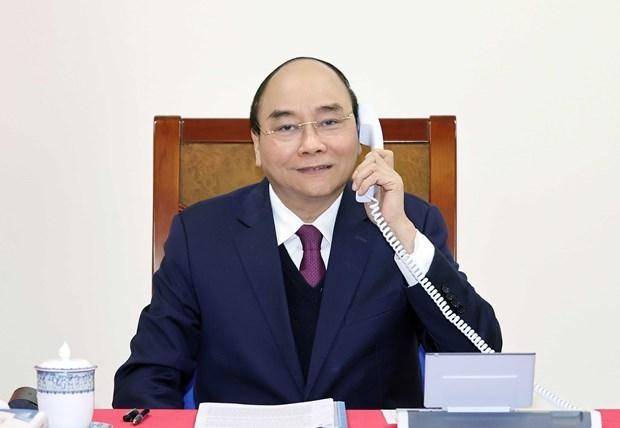 Conversation telephonique entre Nguyen Xuan Phuc et Donald Trump hinh anh 1
