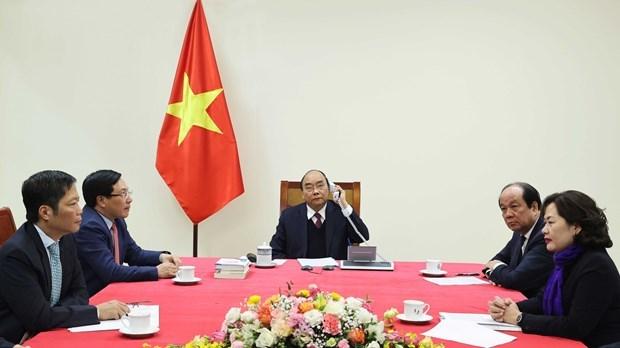 Conversation telephonique entre Nguyen Xuan Phuc et Donald Trump hinh anh 2