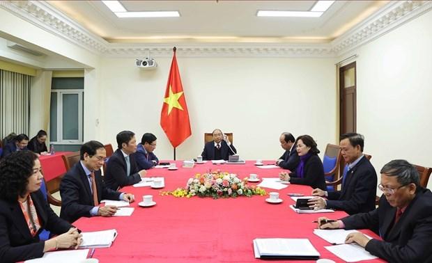 Conversation telephonique entre Nguyen Xuan Phuc et Donald Trump hinh anh 3
