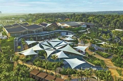 Accueillir 2021 a la station thermale de luxe de Binh Chau hinh anh 1