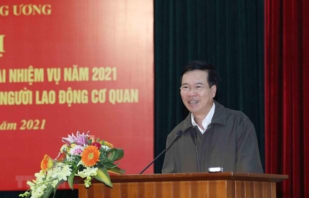 La Commission centrale de Propagande et d'Education supervisera l'installation du centre de presse hinh anh 1