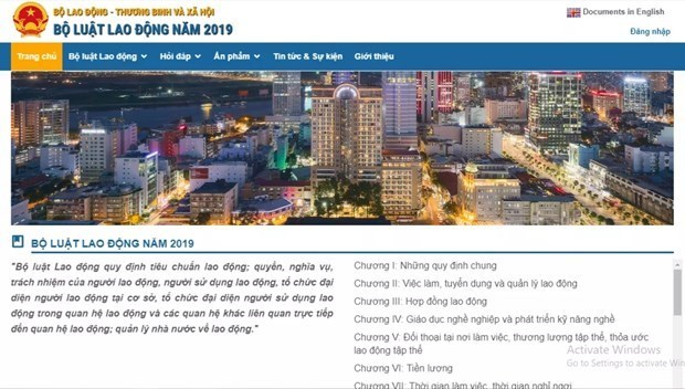 Inauguration du site Web sur le Code du travail de 2019 hinh anh 1