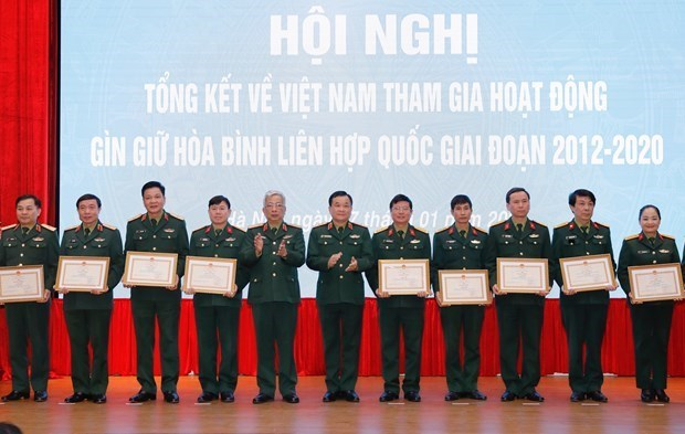 Le Vietnam envoie 179 soldats dans des operations de maintien de paix en periode 2012-2020 hinh anh 2