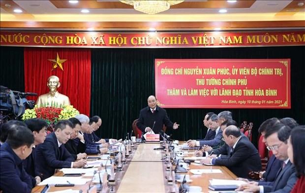 Le PM exhorte Hoa Binh a valoriser son potentiel pour stimuler le developpement local hinh anh 1