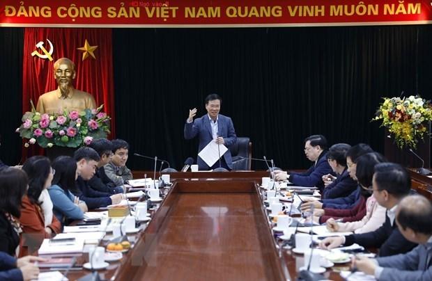 Le centre de presse du 13e Congres national du Parti s'ouvra le 22 janvier hinh anh 1