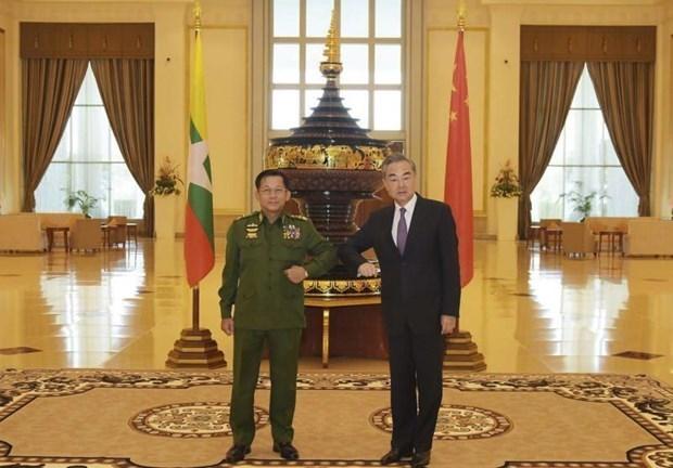 La Chine et le Myanmar conviennent d'accelerer la construction d'un corridor economique hinh anh 1