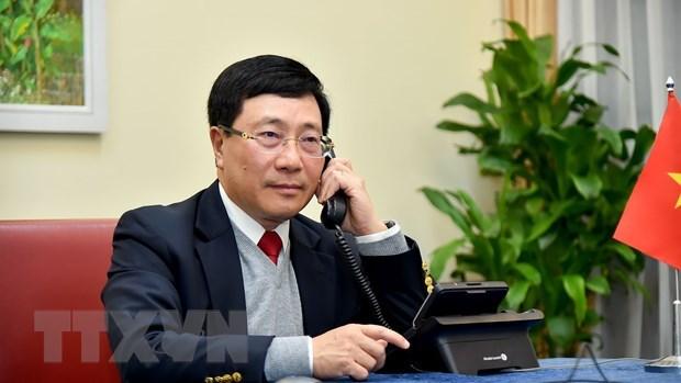 Le vice-PM et ministre des AE Pham Binh Minh s'entretient en ligne avec le ministre des AE du Brunei hinh anh 1