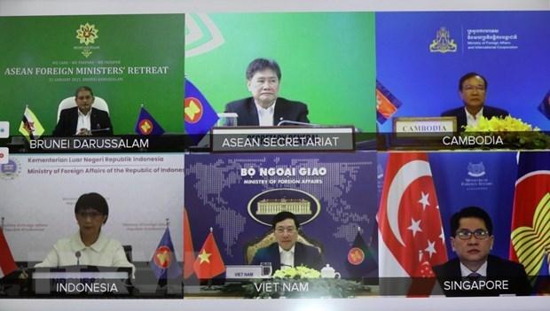 Le Vietnam a la reunion restreinte des ministres des AE de l'ASEAN hinh anh 2