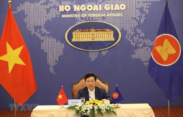 Le Vietnam a la reunion restreinte des ministres des AE de l'ASEAN hinh anh 1