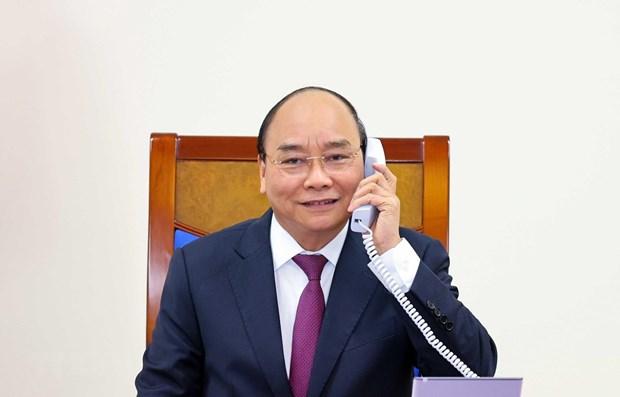 Conversation telephonique entre les deux Premiers ministres vietnamien et australien hinh anh 1