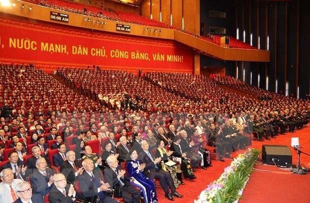 Communique de presse sur la seance d'ouverture du 13e Congres national du Parti hinh anh 1