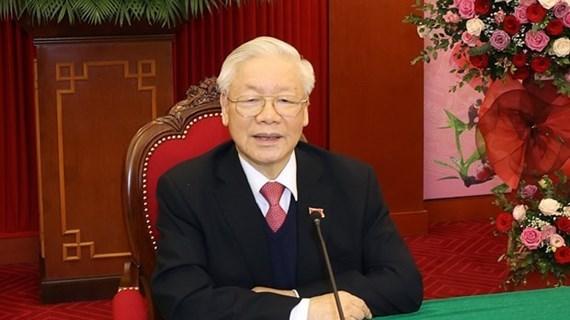 Le dirigeant cambodgien felicite le Vietnam pour le succes du 13e Congres national du Parti hinh anh 1