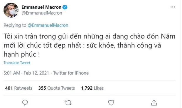 Nouvel an lunaire : des dirigeants etrangers envoient leurs salutations en vietnamien hinh anh 1