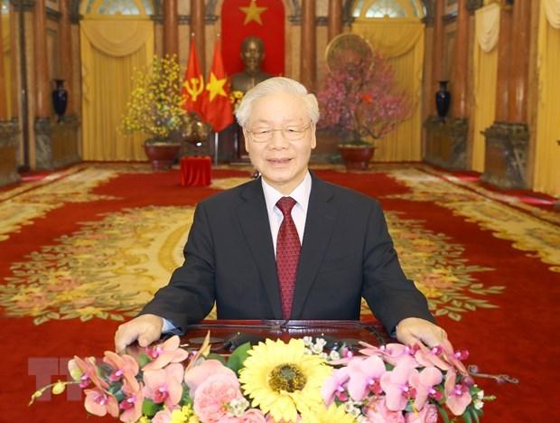 Messages de felicitations au secretaire general du Parti et president Nguyen Phu Trong hinh anh 1