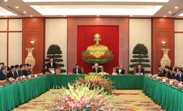Rencontre avec d'anciens membres du BP, du Secretariat et du CC du Parti du 12e mandat hinh anh 1